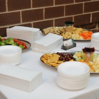 Wine and cheese offered by the Centre des arts et de la culture de Dieppe