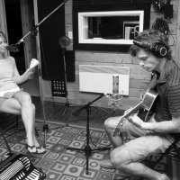 Ginette Ahier et Mathieu D'Astous enregistrent